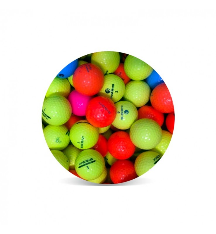 Inesis color (25 bolas de golf de colores)