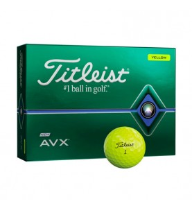Titleist AVX en color amarillo (12 pelotas de golf)