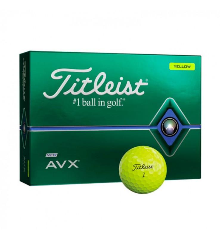 Titleist AVX en color amarillo (12 pelotas de golf)