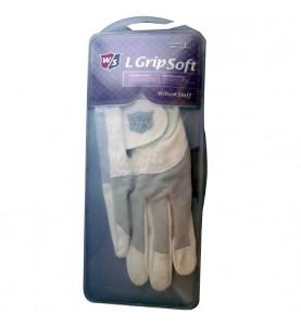 Wilson Staff Grip Soft en color blanco y gris → Guante de golf Lady