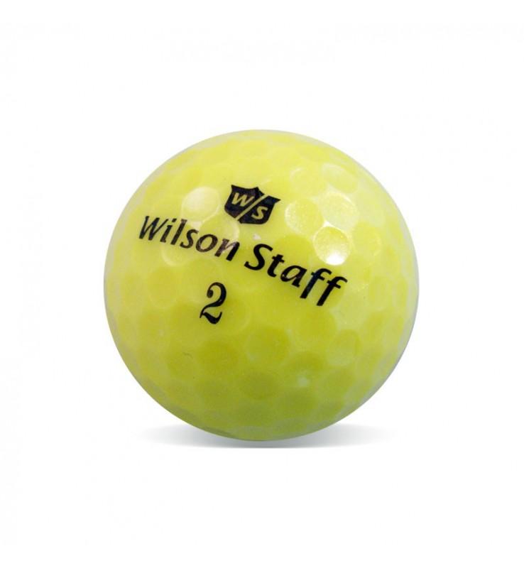 Wilson Staff Dx2 Amarilla - Grado Perla (25 bolas de golf)