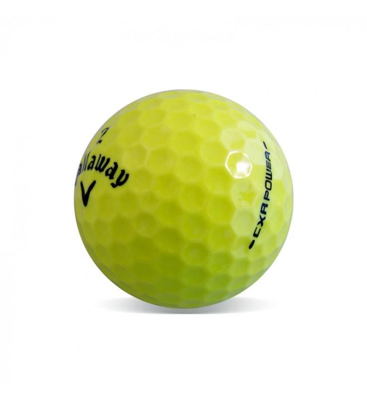 Callaway CXR Power amarilla - Grado Perla (25 bolas de golf)
