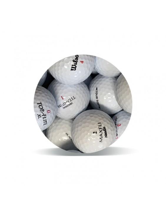 Selección Economy Grado Perla (25 bolas de golf)