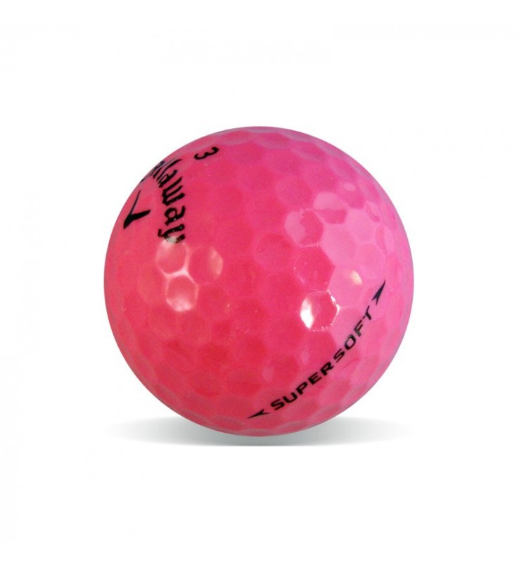 Callaway Supersoft Rosa - Grado Perla (25 bolas de golf)