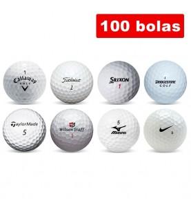 Surtido de 100 bolas de golf en Grado C