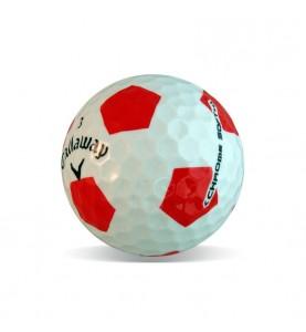 Callaway Chrome Soft diseño fútbol en Grado Perla (25 bolas de golf)