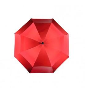 Paraguas de golf doble capa en color rojo