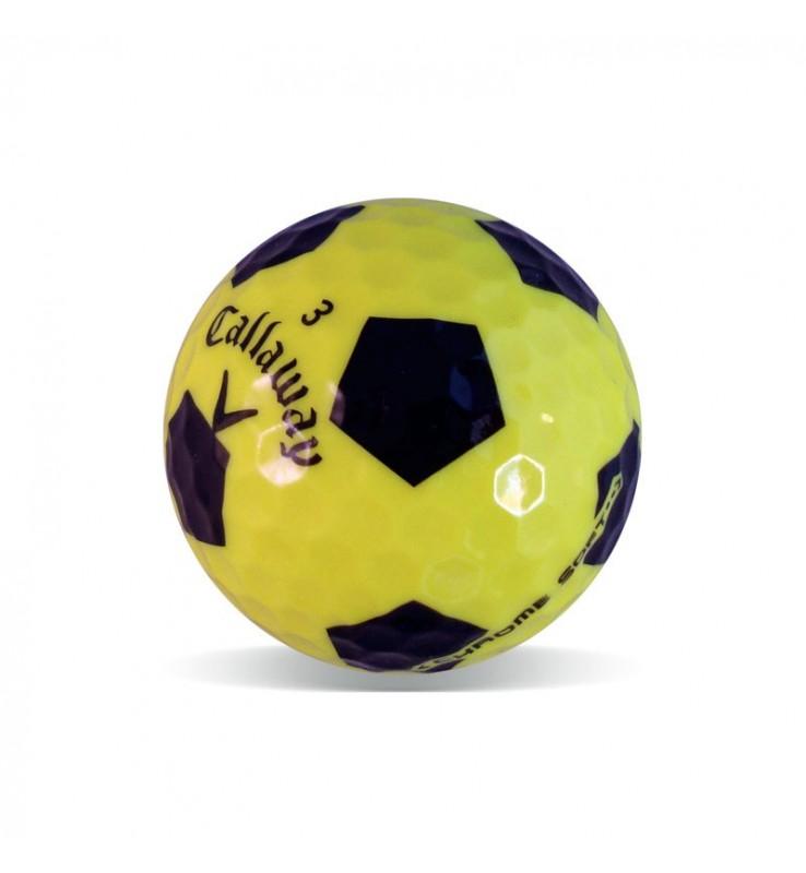 Bolas de golf Callaway Chrome Soft diseño fútbol Grado Perla