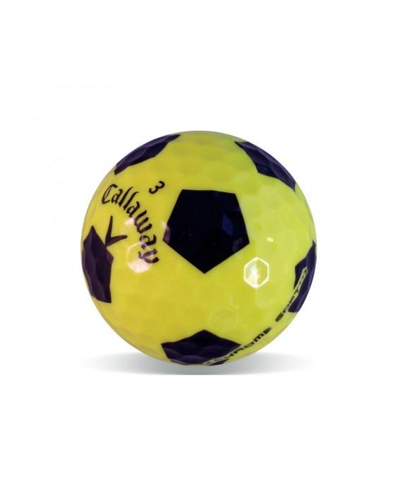 Callaway Chrome Soft diseño fútbol Grado Perla (25 bolas de golf)