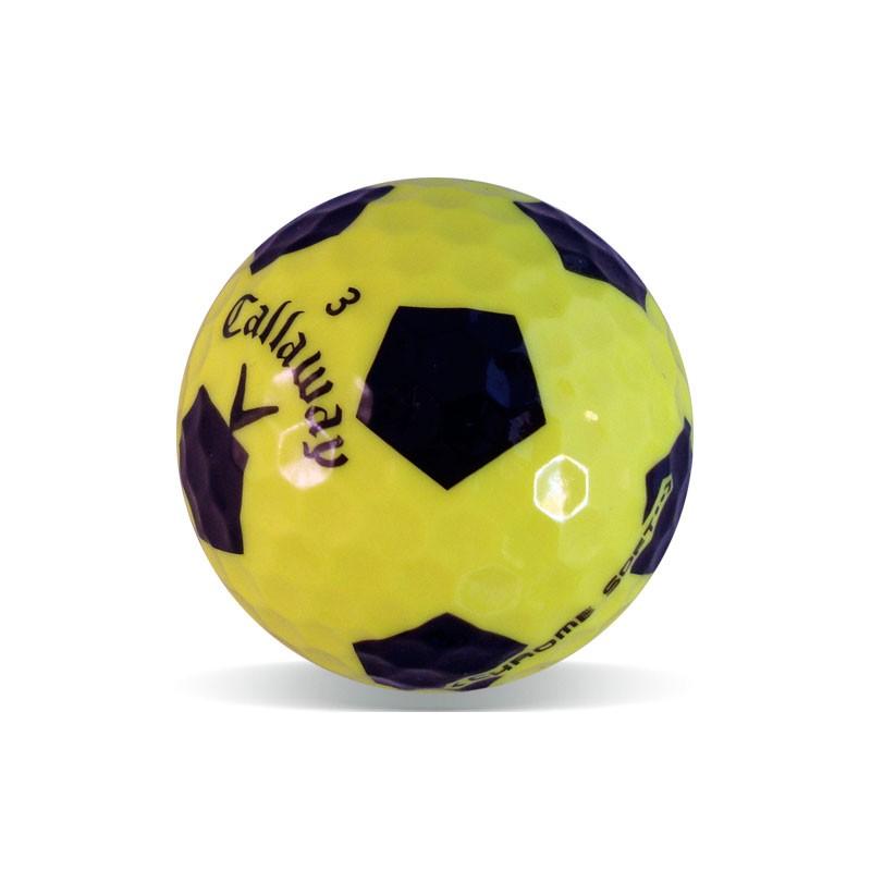 66a7f1a9dde95 Bolas de golf Callaway Chrome Soft diseño fútbol Grado Perla