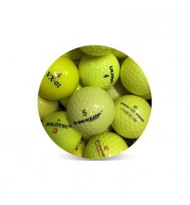 Bolas de golf amarillas - Grado Perla (25 bolas de golf)