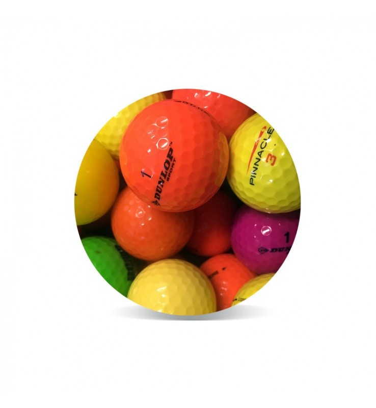 Bolas de golf de colores - Grado Perla (25 bolas de golf)