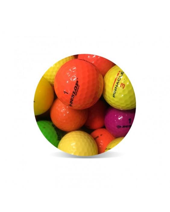 Bolas de golf de colores - Grado Perla (25 bolas de golf)