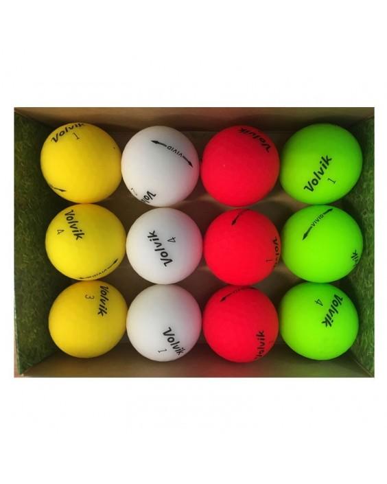 Pelotas de golf Volvik Vivid - Grado Perla (caja de 12 bolas)