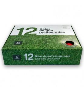 Caja de 12 pelotas de golf recuperadas