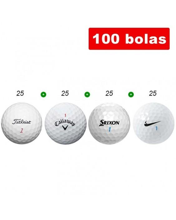 100 bolas de golf en Grado A