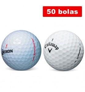 Srixon Distance y Callaway Warbir - Grado Perla (50 bolas de golf en promoción)