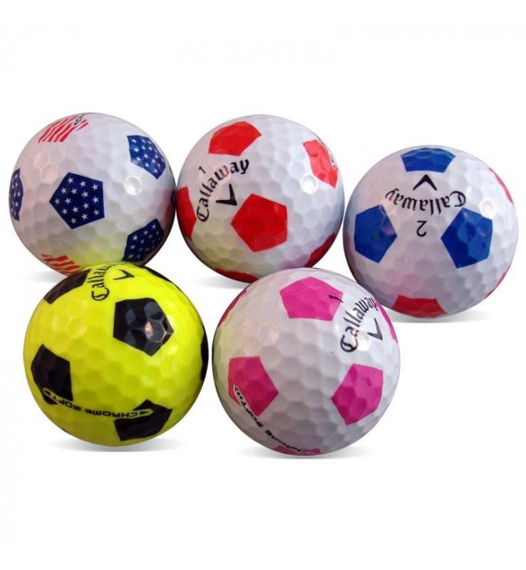 594ce1283186d Callaway Chrome Soft diseño fútbol en Grado Perla (25 bolas de golf)