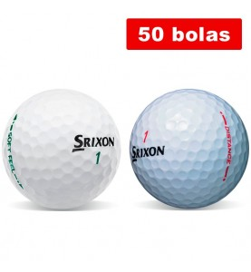 Srixon Soft Feel + Srixon Distance (50 bolas de golf recuperadas)