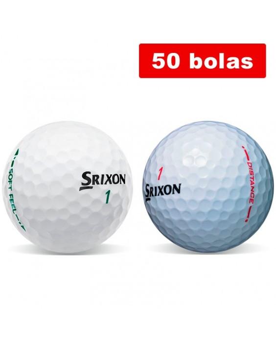 Srixon Soft Feel + Srixon Distance (50 bolas de golf recuperadas)