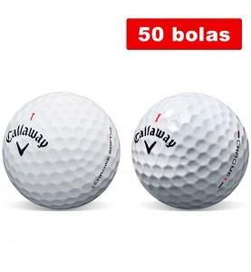 Callaway Chrome Soft + Callaway Hex Chrome Plus - Grado B (50 bolas de golf)