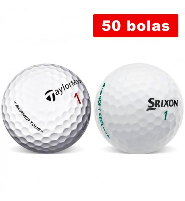 Tailor Made Burner y Srixon Soft feel (50 bolas de golf)