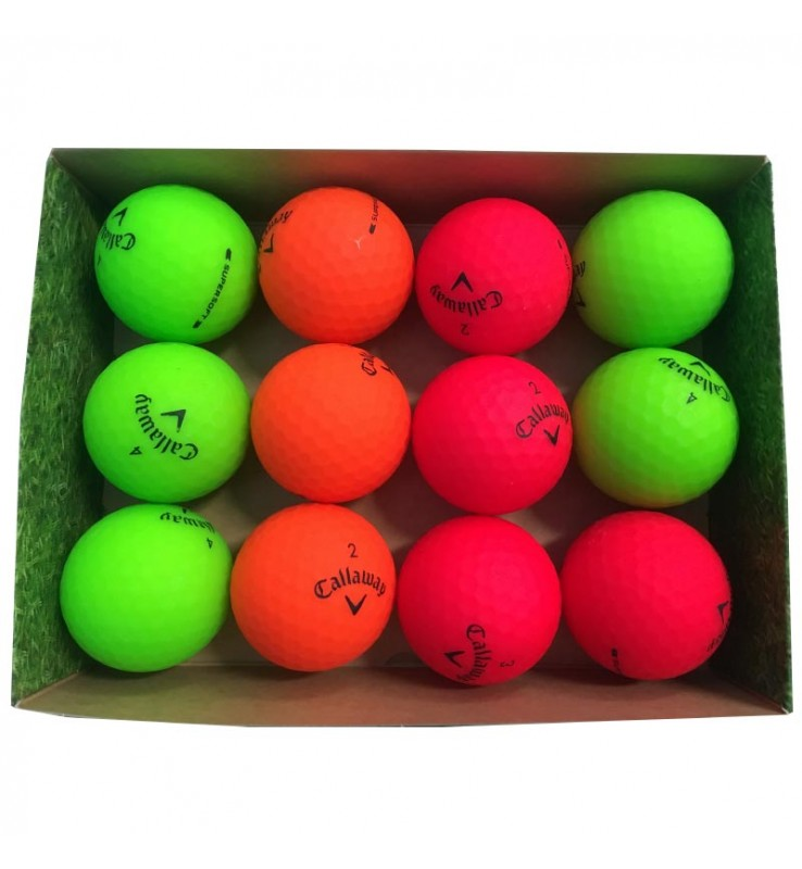 Callaway Supersoft color mate (caja de 12 bolas de golf)