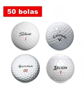 Lote de 50 bolas de golf de segunda mano