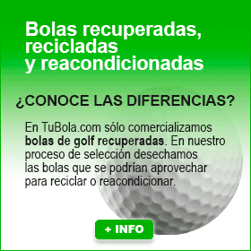 Bolas de golf recuperadas, recicladas y reacondicionadas
